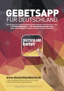 Deutschland betet - App Poster DIN A3