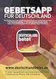 Deutschland betet - App Postkarte DIN A6 hoch