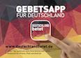 Deutschland betet - App Postkarte DIN A6 quer